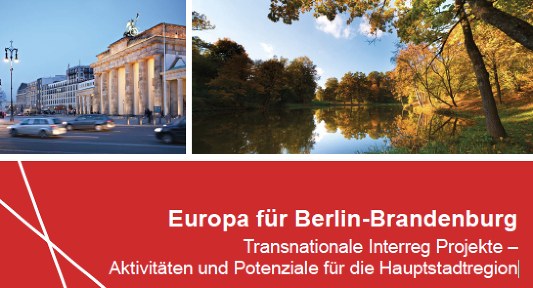 6 s.Pro projects featured in brochure 'Transnational Interreg projects in the capital region of Berlin-Brandenburg (Germany)'
