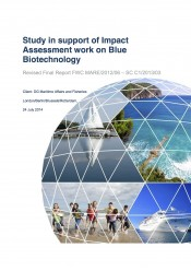 Study in support of impact assessment work on Blue Biotechnology (October 2014)